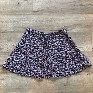Button Up Floral Skirt